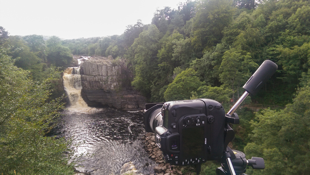 High Force Waterfall camera set up