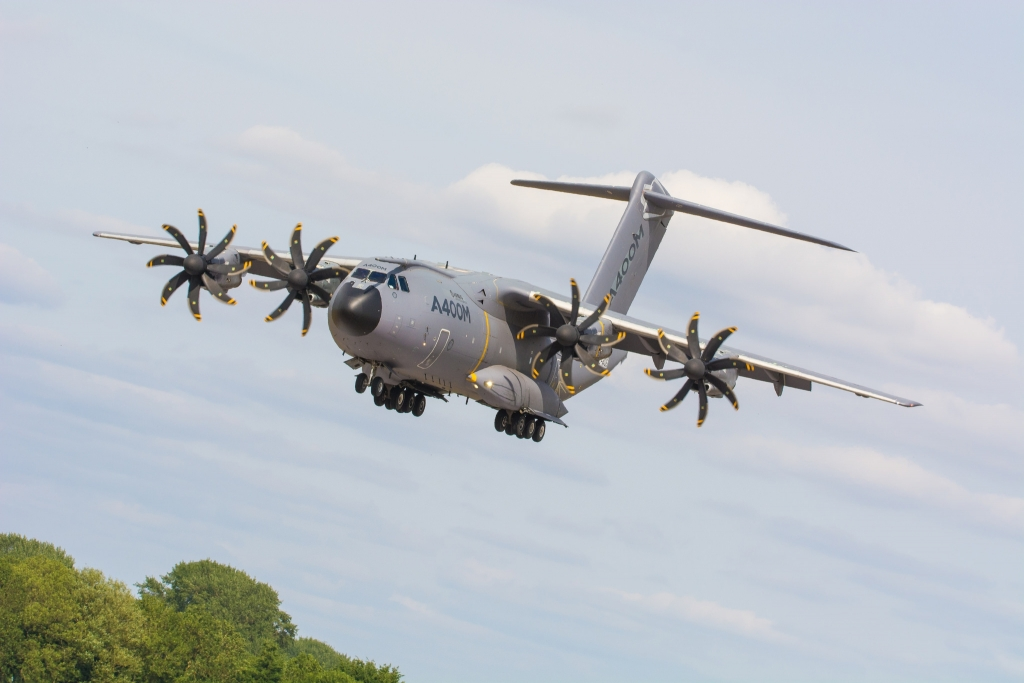 Airbus A400M on Finals