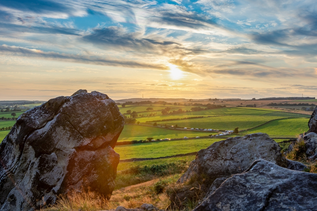 Almscliffe Crag Summer Sunset