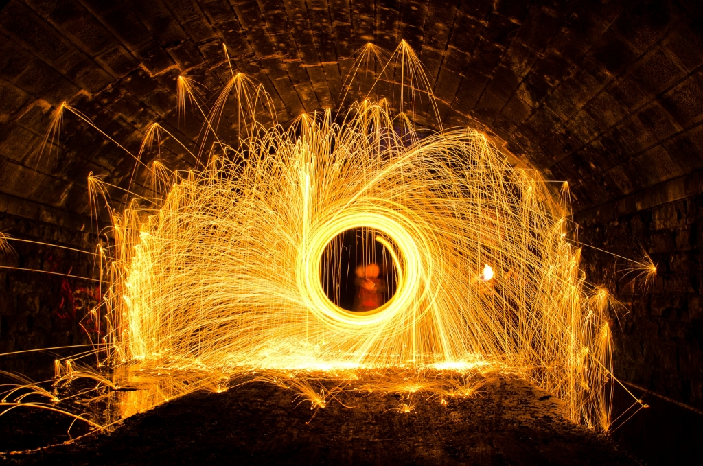 Disused Railway Bridge Wire Wool - Starbeck