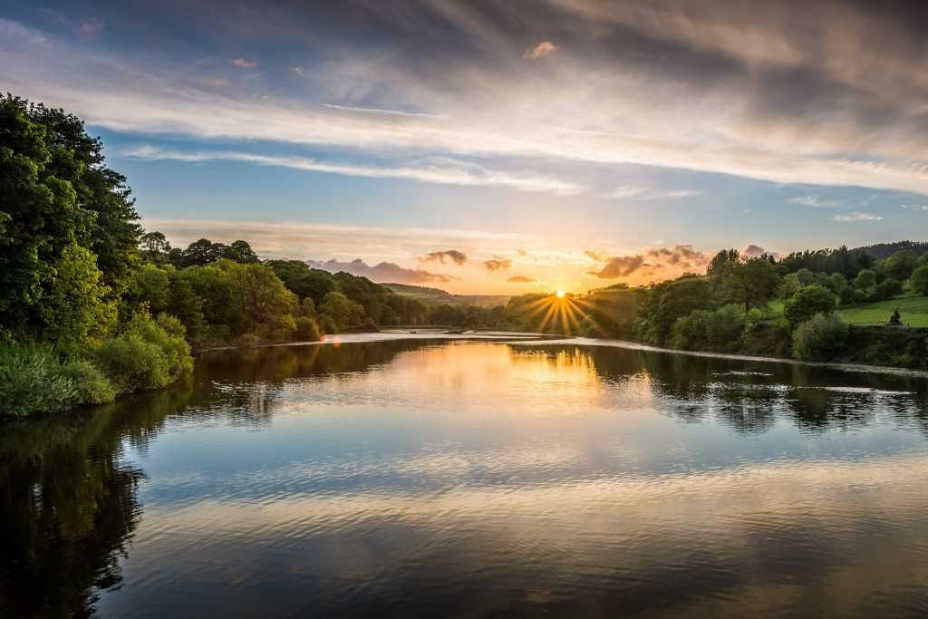 Lindley Wood Reservoir Sunset - North Yorkshire